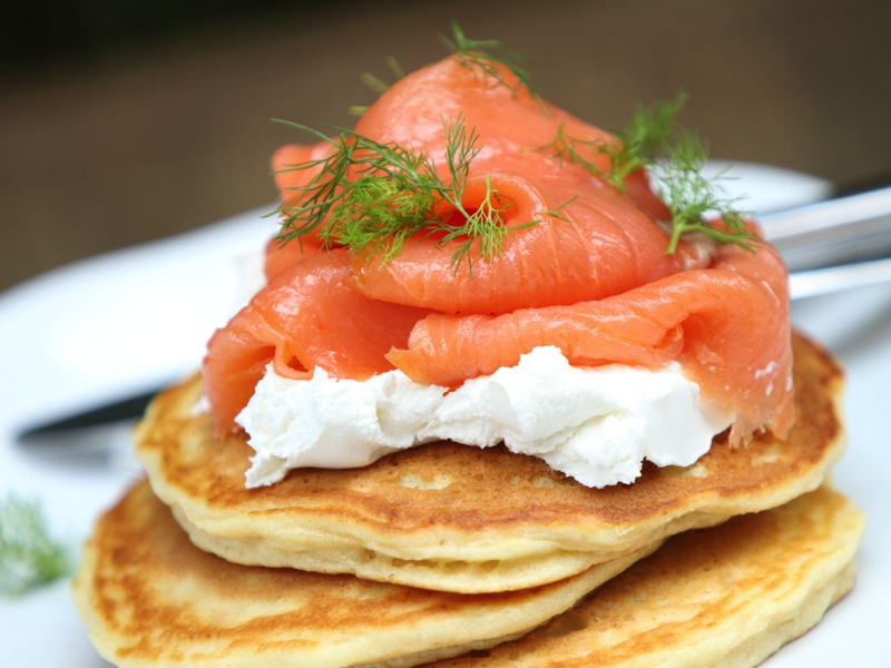 Pancake and Salmon