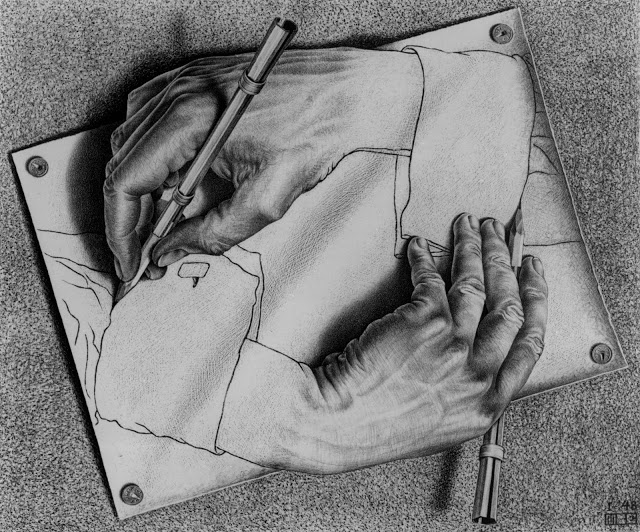 Escher Drawing-hans